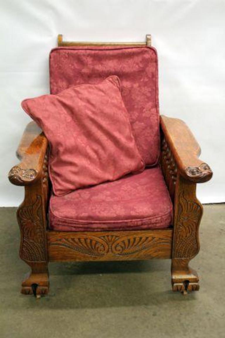 ANTIQUE MORRIS CHAIR - Auction Ohio ANTIQUE MORRIS CHAIR
