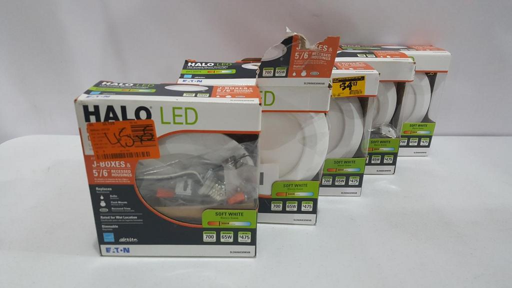 Auction Ohio Lot Of 5 Halo Recessed Lights
