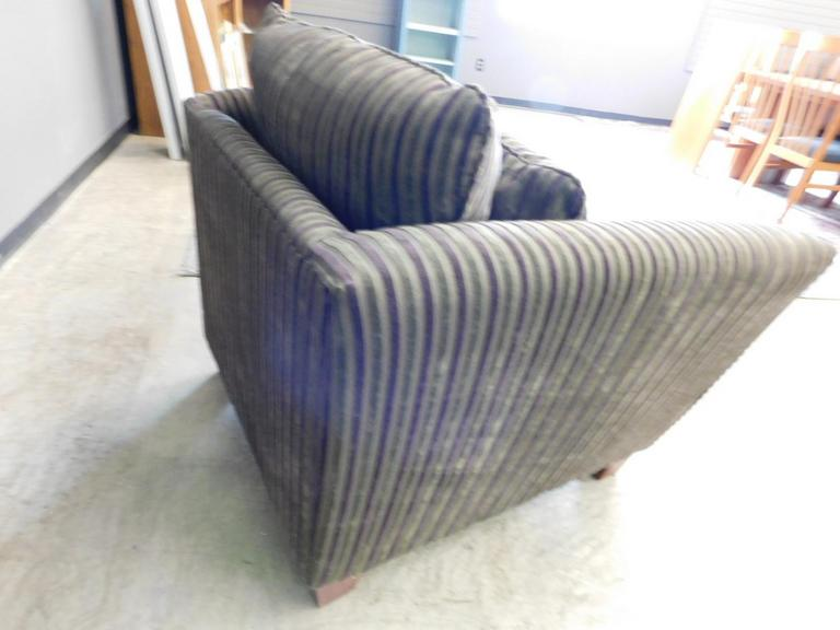 Lot#: 43   Purple Green Armchair