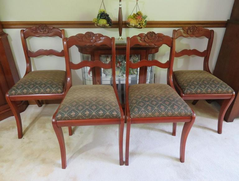 Fabulous Auction Ohio Rose Back Chairs Bralicious Painted Fabric Chair Ideas Braliciousco