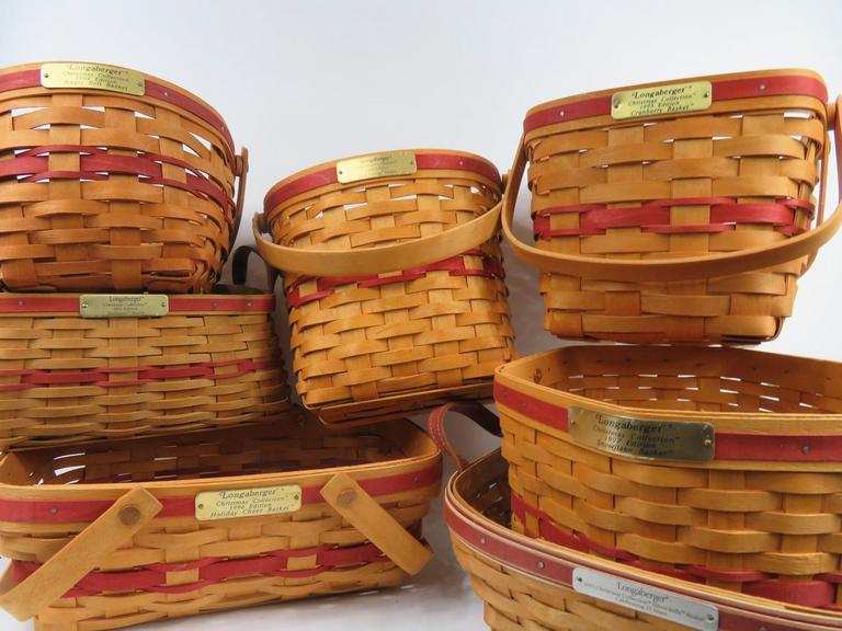 Longaberger Christmas Basket.Auction Ohio Longaberger Christmas Baskets