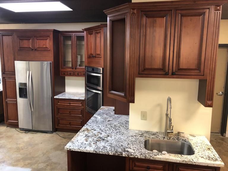 Auction Ohio | Cherry Cabinet Package