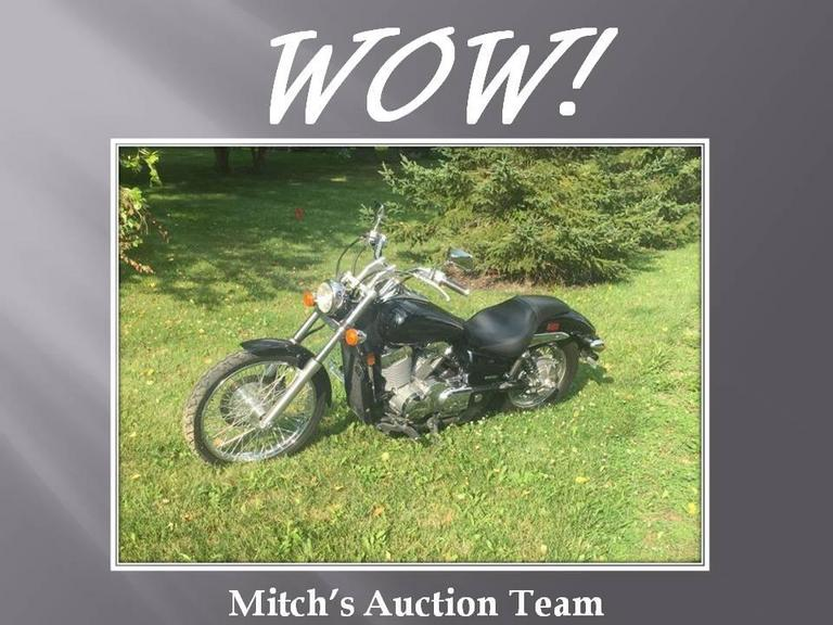 2008 Honda Shadow With Only 5985 Actual Miles! & Auction Ohio - Auctions