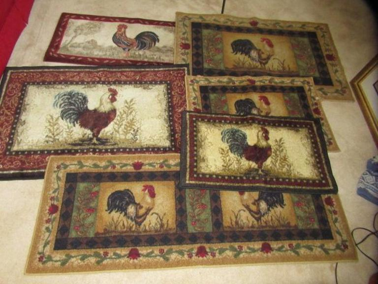 Auction Ohio Rooster Rugs