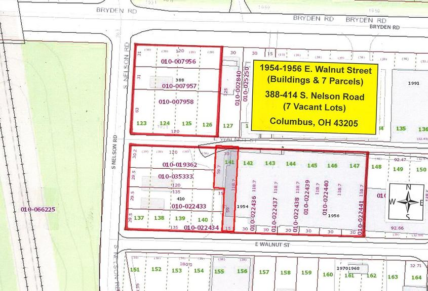 Auction Ohio 14 Parcels Building Vacant Lots